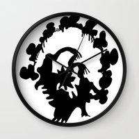 turkey Wall Clocks featuring Turkey by ken green art