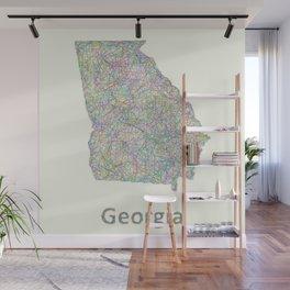 Georgia map Wall Mural