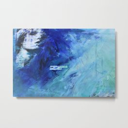 loose yourself in the blue wind Metal Print