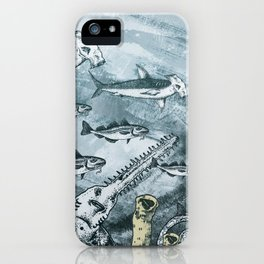 Submarine and Hammerheads iPhone Case