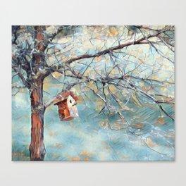 A Chickadees Home Canvas Print