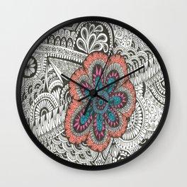 Flower-tangle Wall Clock