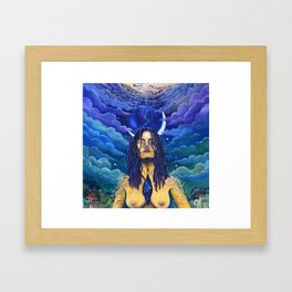 Acceptance: Golden Goddess Framed Art Print