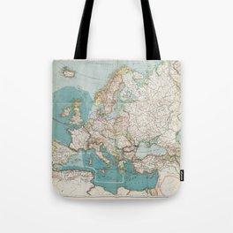 Flemmings Kriegskarten / Flemming's War Maps (1916) - 036 Submarine Warfare in Europe Tote Bag