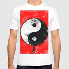 Ying/Yang/Chi Mens Fitted Tee White MEDIUM