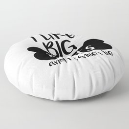 I like big mutts and I cannot lie Floor Pillow
