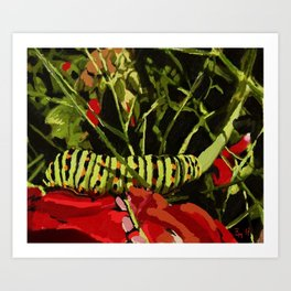 caterpillar on work! Art Print