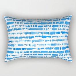 Indigo Shibori Brush Stroke Pattern Rectangular Pillow