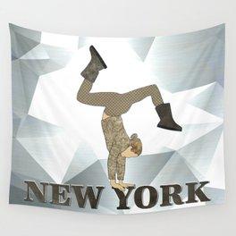 Gymnastics New York Wall Tapestry