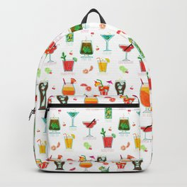 Happy hour..s cocktails illustration Backpack