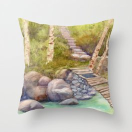 A Bridge to Morocco WC20150712a Throw Pillow