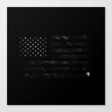 American Flag Space Canvas Print