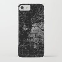 memphis iPhone & iPod Cases featuring Memphis map by Line Line Lines