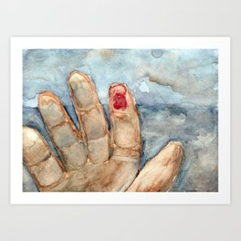 Blood Glove (The Birds) Art Print