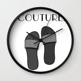 Duct Tape Sandals Wall Clock