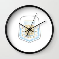 argentina Wall Clocks featuring Argentina Crest by George Williams