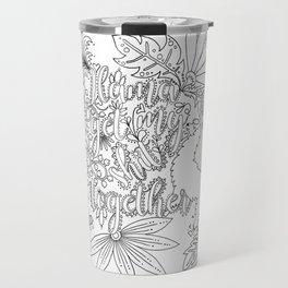 Llama Get My Shit Together Adult Coloring Design Travel Mug