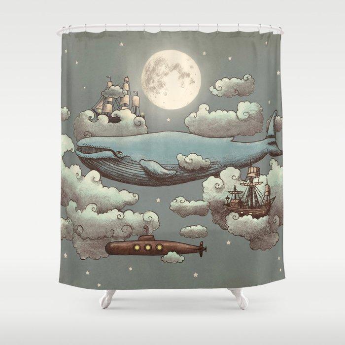Ocean Meets Sky Shower Curtain