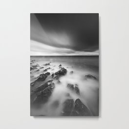Dramatic rocky shore Metal Print