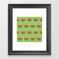 Mmmmm....Watermelon Framed Art Print