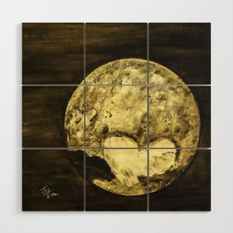 Universal Love from Pluto Wood Wall Art
