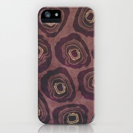 Aubergine Geode iPhone Case