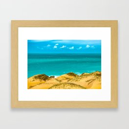 Dunes and Ocean Jericoacoara Brazil Framed Art Print