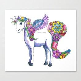 Madeline the Magic Unicorn Canvas Print