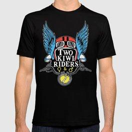 Two Kiwi Riders • Classic Winged Helmet Logo • Color T-shirt