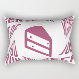 Portal Cake Rectangular Pillow
