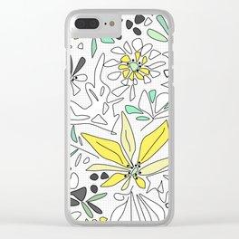 Retro flower pattern 2 Clear iPhone Case
