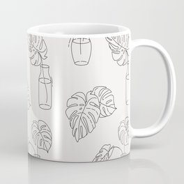 Monstera homeplant lineart Coffee Mug