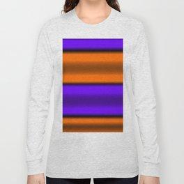 Orange & Purple Horizontal Stripes Long Sleeve T-shirt
