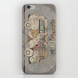 adventure awaits world map design 1 iPhone Skin