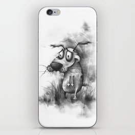 The Cowardly Canine iPhone Skin