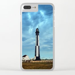 New Cape Henry Lighthouse Under Ominous Clouds Clear iPhone Case