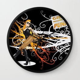Hot Line Wall Clock