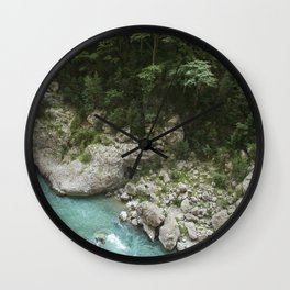 Hiking in France Wall Clock