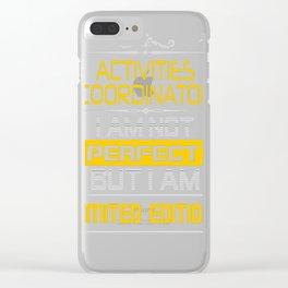 ACTIVITIES-COORDINATOR Clear iPhone Case