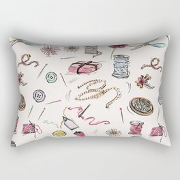 Boo Boo's Mini Sewing Kit Rectangular Pillow