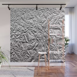 Silver Paper Wall Mural