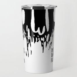 Disappearing Face - Black Travel Mug