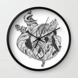 Dry Leaf Wall Clock
