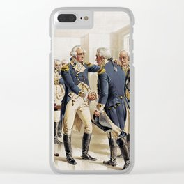 Washington's Farewell to Officers by H.A. Ogden (1893) Clear iPhone Case