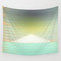 northern lights Wall Tapestries featuring Northern Lights by Tammy Kushnir