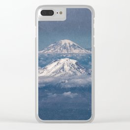 Mount Adams Mt Rainier - PNW Mountains Clear iPhone Case