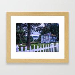 House on the Bay Framed Art Print