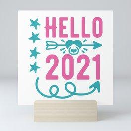 Hello 2021 Mini Art Print
