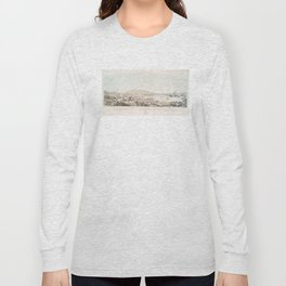 Vintage Pictorial Map of San Francisco CA (1849) Long Sleeve T-shirt