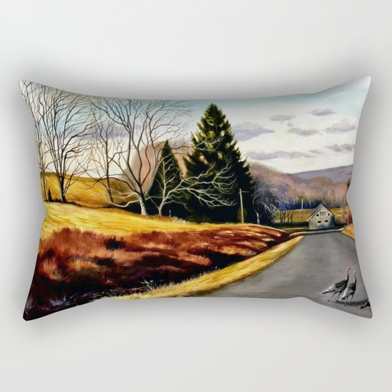 The Country Road Rectangular Pillow